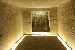 在阿斯旺博物馆-埃及的古老雕象 图库摄影