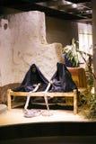 在阿斯旺博物馆-埃及的古老雕象 免版税库存图片