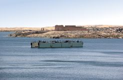 在阿斯旺水坝银行的Kalabsha寺庙  努比亚,埃及 库存照片
