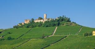 在阿斯蒂,意大利附近的山麓 免版税图库摄影