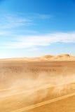 在阿曼老沙漠磨擦Al khali尘暴 免版税库存图片