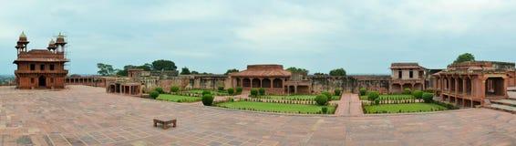 在阿格拉,印度附近的被放弃的老城市法泰赫普尔西克里 免版税库存照片