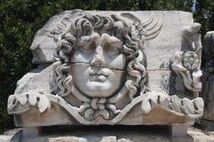 在阿波罗寺庙的水母Gorgon 免版税库存图片