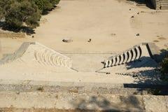在阿波罗寺庙附近的小剧院在罗得岛上城  库存图片