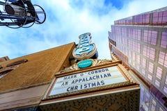 在阿琳施尼策尔音乐堂的波特兰标志在俄勒冈 免版税库存图片