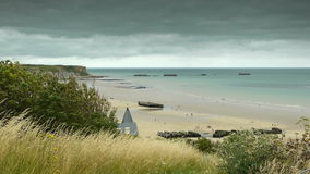 在阿罗芒什,法国的纪念海滩 影视素材
