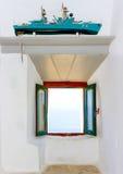 在阿莫尔戈斯岛海岛在希腊 免版税库存图片