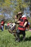 在阿西西的那天,智利圣法兰西斯的传统舞蹈  库存照片