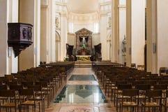 在阿西西,意大利的教会内部 库存图片