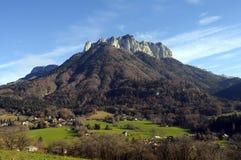 在阿讷西,法国附近的Forclaz山 免版税图库摄影