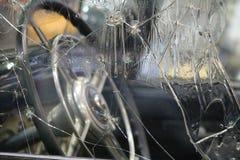 在阿道夫・希特勒的汽车窗口的弹孔  库存图片