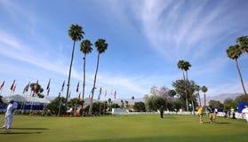 在阿那启发的高尔夫球区打高尔夫球比赛2015年 免版税库存图片