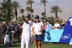 在阿那启发高尔夫球比赛的乐喜汤普森2015年 库存照片