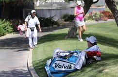 在阿那启发高尔夫球比赛的乐喜汤普森2015年 免版税库存照片