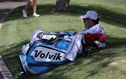 在阿那启发高尔夫球比赛的乐喜汤普森2015年 免版税库存图片