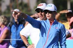 在阿那启发高尔夫球比赛的宝拉盛奶油小壶2015年 库存照片