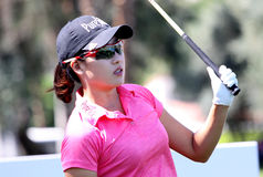 在阿那启发高尔夫球比赛的詹尼弗歌曲2015年 图库摄影