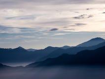 在阿里山的日出 库存图片