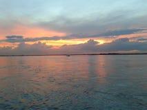 在阿雷格里港的日落 免版税库存照片