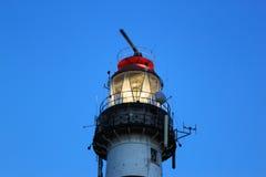 在阿默兰岛海岛,荷兰的照明设备灯塔Bornrif 免版税图库摄影