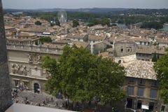在阿维尼翁镇的看法  免版税库存图片