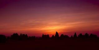 在阿贝湖的日落 库存图片