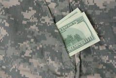 在陆军统一矿穴的美元 图库摄影