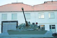 在陈列的大坦克 库存图片