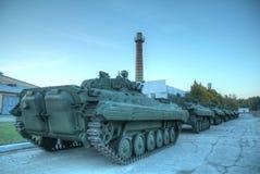 在陈列的大坦克 免版税图库摄影