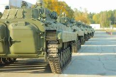 在陈列的大坦克 免版税库存图片