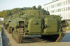 在陈列的大坦克 免版税库存照片
