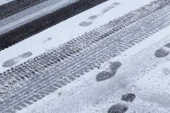 在降雪以后的雪 免版税图库摄影