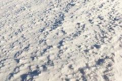在降雪以后的雪 免版税库存图片