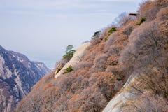 在陕西中国,华山的著名旅游胜地山 库存图片