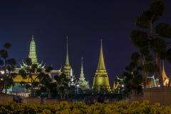 在陛下国王普密蓬・阿杜德,萨娜姆Luang礼仪地面,曼谷,没有的泰国皇家火葬仪式的陈列  库存图片