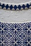 在陶瓷砖的阿拉伯样式 免版税库存照片