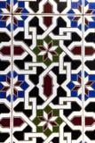在陶瓷砖的阿拉伯样式 库存图片