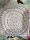 在陶瓷unfired的螺旋油漆 免版税库存图片
