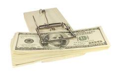 在陷井的货币 免版税库存图片