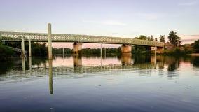 在隆河的桥梁 免版税库存图片