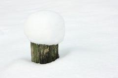 在随风飘飞的雪的残余部分 免版税图库摄影