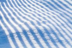 在随风飘飞的雪的镶边阴影样式 库存图片