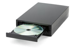 在隔绝的DVD CD的记录器 免版税库存照片