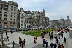 在障壁的历史建筑,上海 免版税库存图片