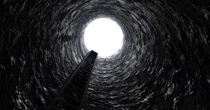 在隧道外面的梯子 免版税图库摄影