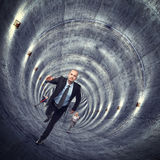 在隧道外面 免版税库存照片
