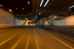 在隧道的光足迹 库存照片