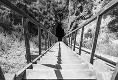 在隧道的台阶 免版税图库摄影