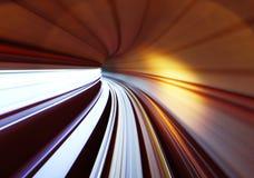 在隧道的火车交通 免版税库存图片
