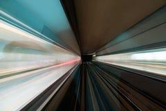 在隧道的被弄脏的行动 免版税库存照片